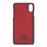 le_marche_leather_iPhone_X / XS_Handmade_Leather_Snap_On_Cover_Case
