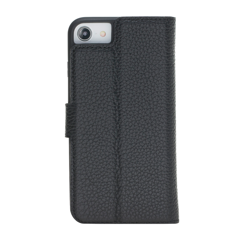 iPhone 7/8 Leather Magnetic Detachable Wallet Case-Diablo Black