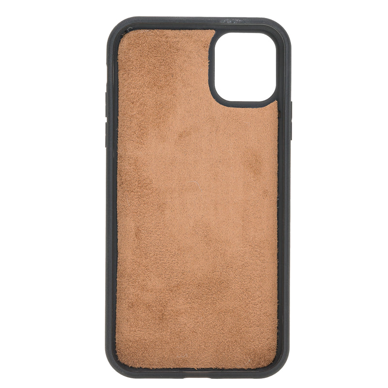"iPhone 11 Pro (5.8"") Magnetic Detachable Leather Wallet Case- Dark Brown"