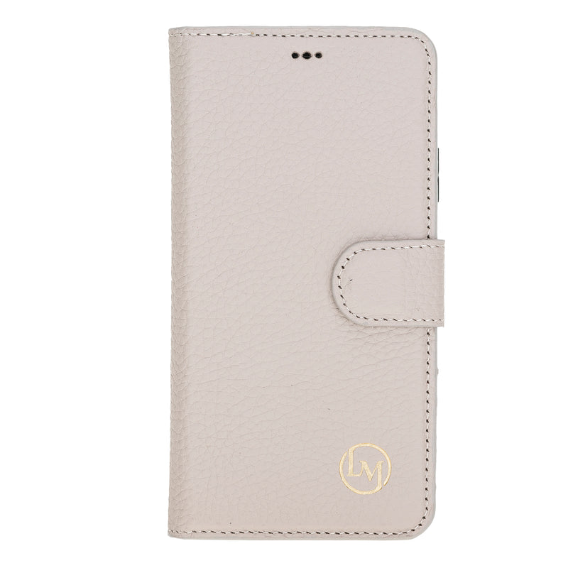 "iPhone 11 Pro (5.8"") Magnetic Detachable Leather Wallet Case- Beige"