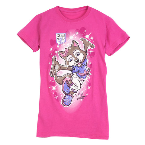 Dancing Violet Girls Tee