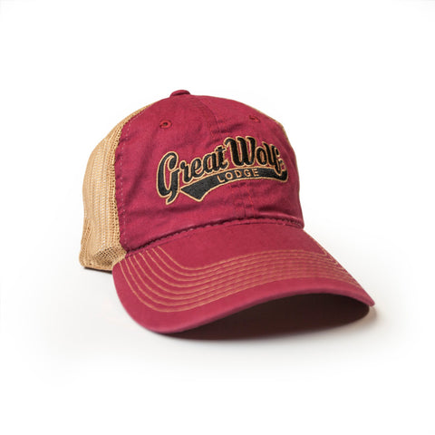 Great Wolf Lodge Tea Stain Trucker Mesh Hat