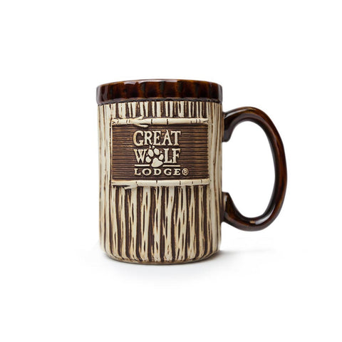 Wood Carved Mug