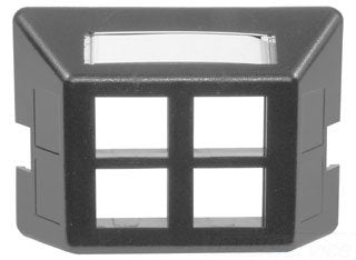 Hubbell Fp4Gy Furniture Plate - 4-Port, Gray