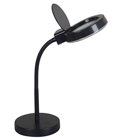 Tensor 18504-001 17-Inch Led Black Magnifier Gooseneck Adjustable Desk Lamp