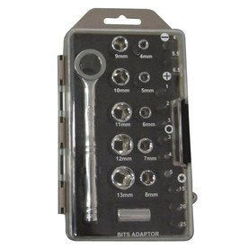 Metric Socket & Bit Set 24 Piece