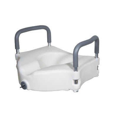 Rtl12027Ra - Elevated Raised Toilet Seat With Removable Padded Arms