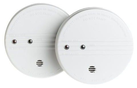 Kidde I9060 Battery-Operated Ionization Sensor Smoke Alarm With Hush Feature,