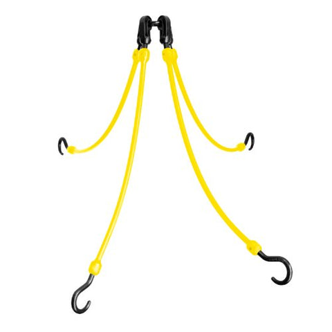The Perfect Bungee 4-Arm 18-Inch Flex Web, Yellow