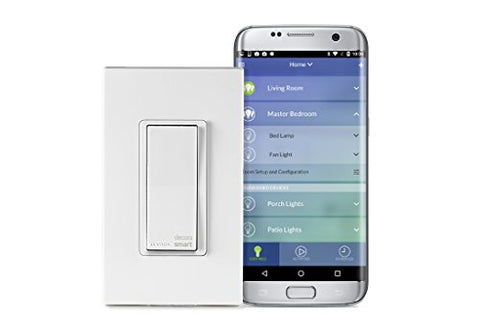 Leviton Dw15S-1Bz Decora Smart Wi-Fi 15A Led/Incandescent Switch, No Hub Required, Neutral Wire Required, Works With Amazon Alexa