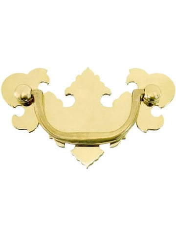 American Chippendale Brass Bail Pull - 2 1/2  Center-To-Center