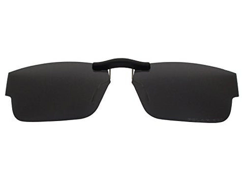 Custom Fit Polarized Clip-On Sunglasses For Oakley Airdrop (51) Ox8046 51X18 Black