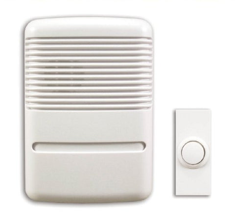 Heath Zenith Sl-6141-B Wireless Plug-In Door Chime Kit, White