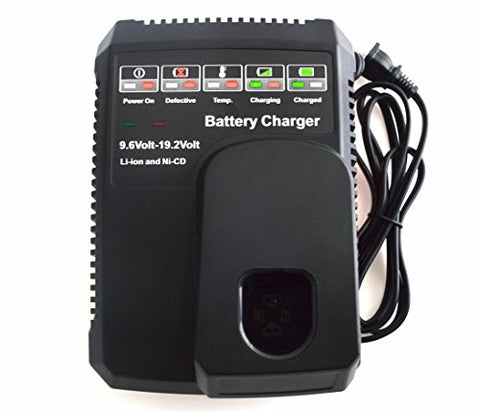 Janri Relacement Li-Ion & Ni-Cd Power Tool Battery Charger 9.6V Max And 19.2V Max For Craftsman C3
