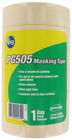 Intertape Polymer Group Pg505-36Sl Professional Grade Masking Tape, 1.41-Inch X 60-Yard, Natural,