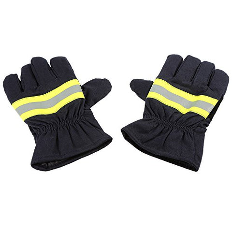 Kkmoon Fire Protective Gloves Anti-Fire Equipment Fire Proof Waterproof Heat -Resistant Flame-Retardant Gloves With Reflective Strap