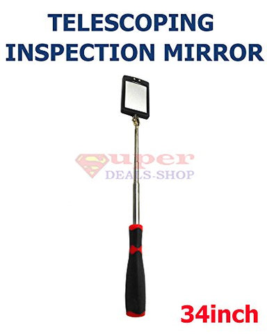 Telescoping Lighted Inspection Mirror Inspection Mirror Telescoping Led Lighted Inspection Mirror Telescoping Led Lighted Inspection Mirror 360 Swivel For Extra Viewing 34 Inch Super-Deals-Shop