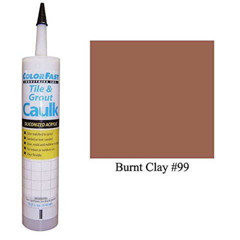 Color Fast Caulk Matched To Custom Building Products (Burnt Clay Unsanded)