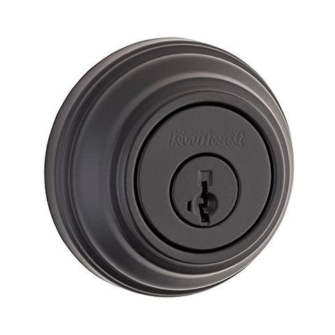 Kwikset 980S-S Smartkey Single Cylinder Deadbolt From The Signature Series, Iron Black