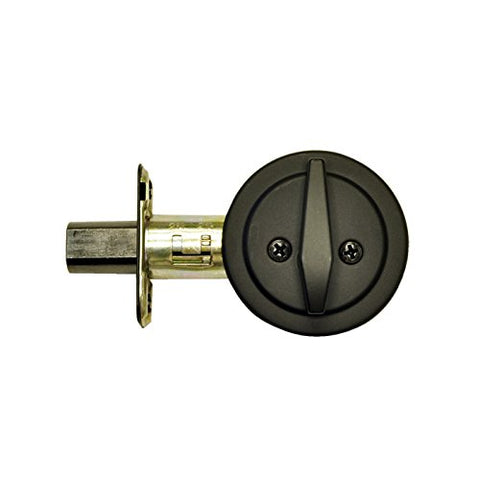 One-Sided Keyless Deadbolt Matte Black
