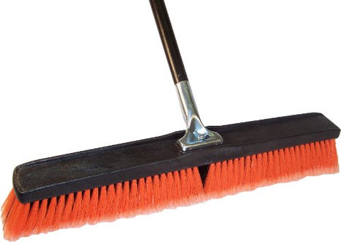Dqb Industries 09973 Professional Push Broom With Lock Block, 24-Inch