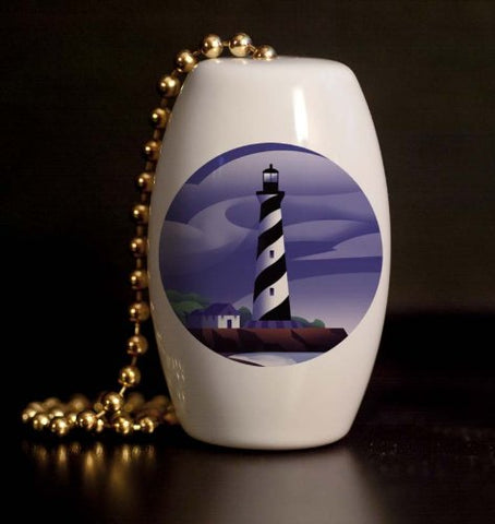 Lighthouse Clouds Porcelain Fan / Light Pull