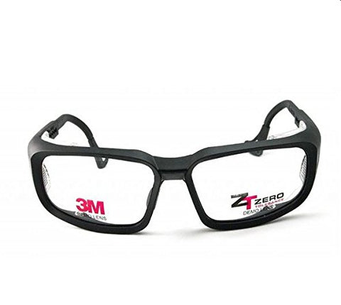 3M Zt100 Prescription Ready Safety Goggles- Lens Size 57/15, Black Frames