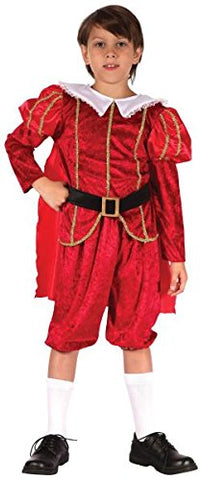 Small Red Boys Tudor Prince Costume