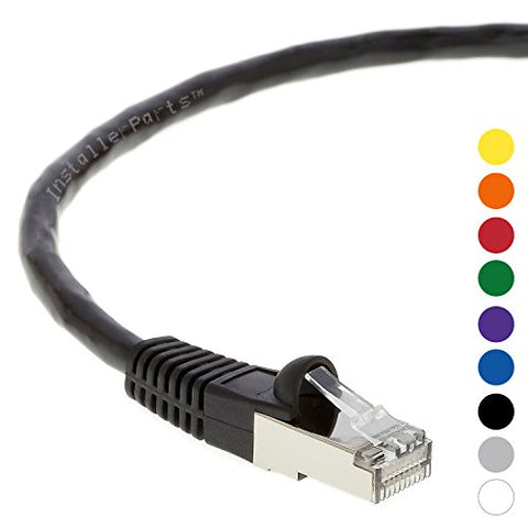 Installerparts Ethernet Cable Cat5E Cable Shielded (Ftp) Booted 3 Ft - Black - Professional Series - 1Gigabit/Sec Network / Internet Cable, 350Mhz