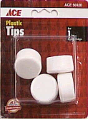 4 Pc 1 White Plastic Tips Ace 56920 082901569206