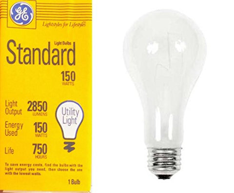 Ge Soft White 41294 150-Watt, 2680-Lumens, A21 Medium Base E-26 Light Bulb