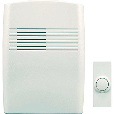 Heathco Sl-7753-02 Off-White Wireless Battery-Operated Door Chime With Cover