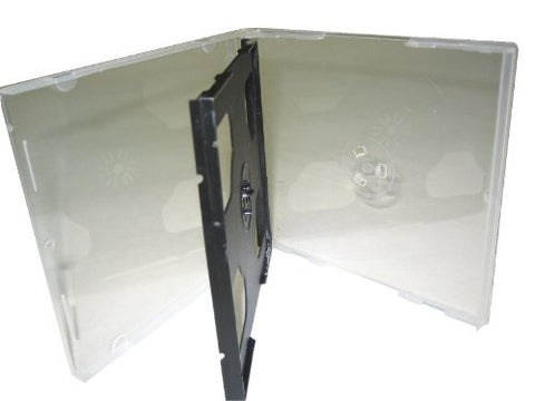 10.4Mm 3 Disc Clear Poly Case W/Black Tray, Assembled Triple Cd, Bl1500, 200 Pieces
