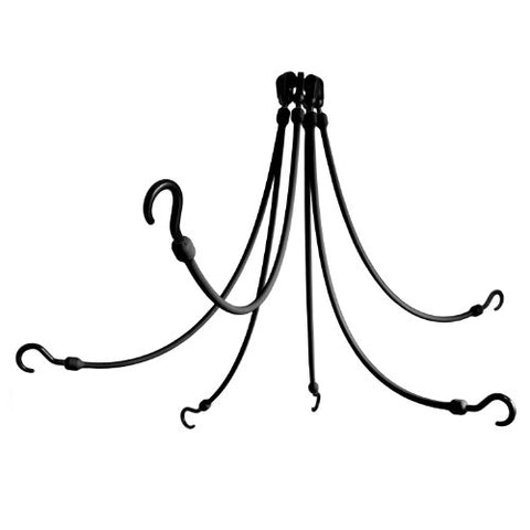 The Perfect Bungee 6-Arm 24-Inch Flex Web, Black