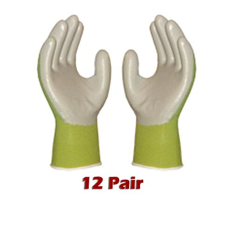 Atlas Fit 370 Green Thin Nitrile Gloves Small S *12-Pack*
