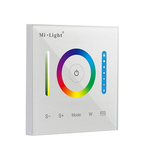 Mi.Light P3 Wall-Mounted Full Touch Panel Controller For 3528 5050 2835 All Kinds Of Rgb Rgbw Rgb+Cct Dimmable Color Changing Led Strip Lighting Dc 12-24V 15A 180W 360W