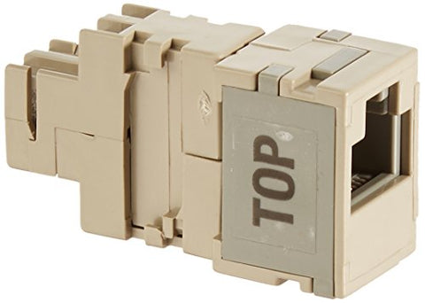Leviton 40072-T2 2-Position Modular Adapter, Converts Two 66-Clip Contacts Into A 6-Position, 2-Conductor Modular Jack, (Tap -2)
