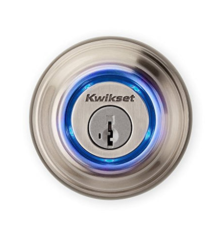 Kwikset Kevo (2Nd Gen) Touch-To-Open Bluetooth Smart Lock, Works With Amazon Alexa Via Kevo Plus, In Satin Nickel