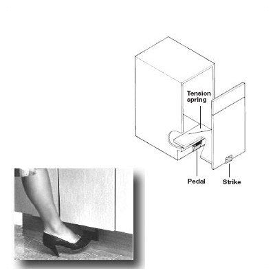 Foot Pedal Door Opener For Pull-Out Door