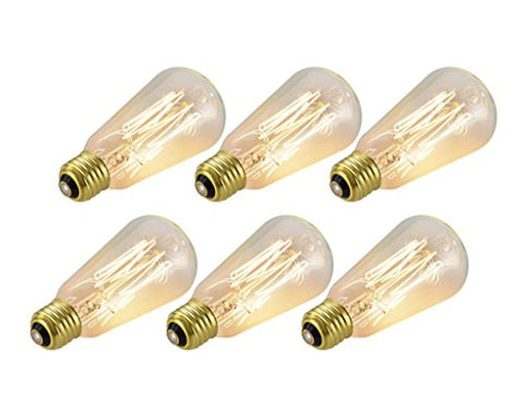 Aspen Creative 10001 S19 Vintage Edison Filament Light Bulb, 60 Watt Medium (E26) Base, Clear,