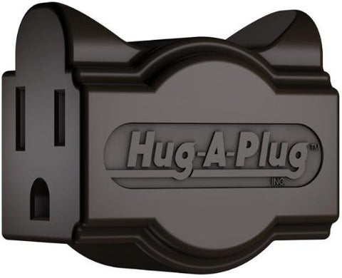 Hug-A-Plug Grounded Right Angle Adapter Plug - Black [15A 125V Current Tap]