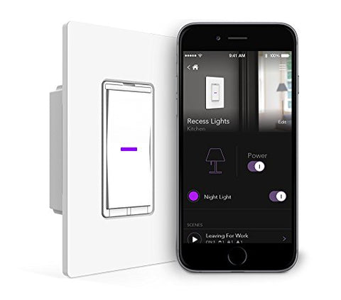 Idevices Wall Switch - Wifi Smart Light Switch, No Hub Required, Single Pole/3 4-Way Set Up, Works With Amazon Alexa