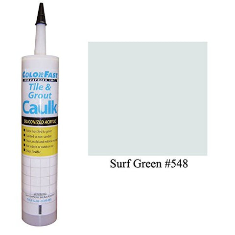 Color Fast Caulk Matched To Custom Building Products (Surf Green Unsanded)