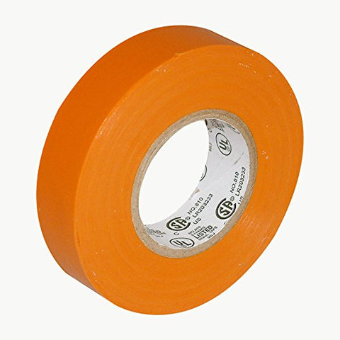 Jvcc E-Tape Colored Electrical Tape: 3/4 In. X 66 Ft. (Orange)