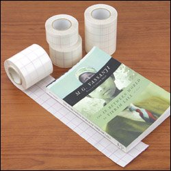 Vistatape Book Tape With Grid Liner - 1-1/2 W X 82Ft.L