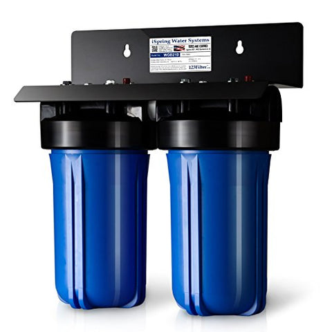 Ispring Wgb21B 2-Stage Whole House Water Filtration System W/ 4.5X10 Sediment And Carbon Block Filters