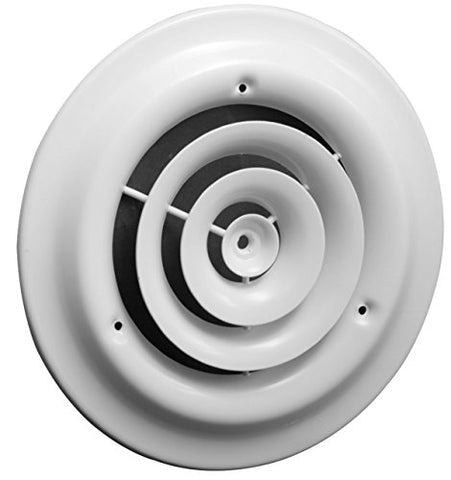 8 Round Ceiling Diffuser - Easy Air Flow - Hvac Duct [White]