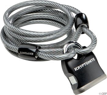 Kryptonite Kryptoflex 818 Looped Cable And Key Padlock 720018 210412