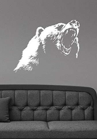 Grizzly Bear Wall Decal Vinyl Sticker Wildlife Animal Decorations For Home Kids Living Room Bedroom Office Decor Br6