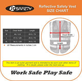Jksafety 9 Pockets Class 2 High Visibility Zipper Front Safety Vest With Reflective Strips,Hq Breathable Mesh, Oxford Fabric For Pocket Materials. Black Meets Ansi/Isea Standards (Medium, Black)